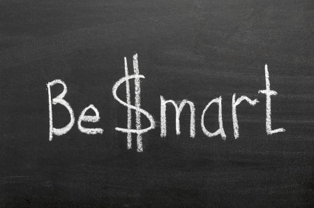 brainy: be  mart phrase handwritten on blackboard