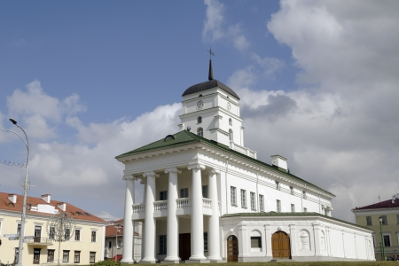 former: historical building of Minsk City Hall located at Freedom Square, the former Cathedral Square