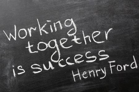 dichiarazione: frase finale della famosa citazione di Henry Ford Archivio Fotografico