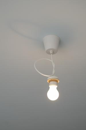 light bulb illumination on the ceiling