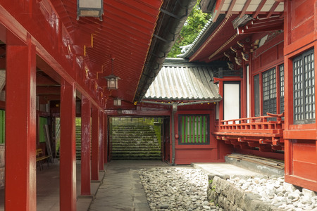 japanese temple: japanese temple inner yard Stock Photo