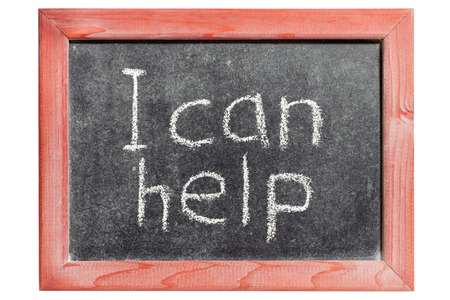 I can help phrase handwritten on isolated vintage blackboard photo