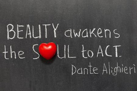 dante alighieri: famous ancient Italian poet Dante Alighieri quote interpretation handwritten on blackboard