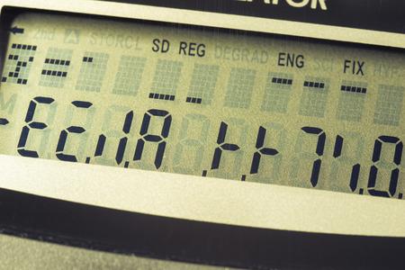 hangup: digital calculator screen with different wrong symbols