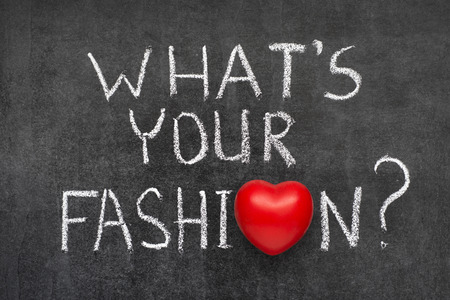 What Is Your Fashion Question Handwritten On Blackboard With Stock