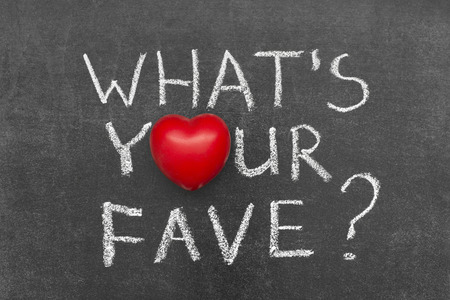 whats your fave question handwritten on chalkboard with heart symbol instead of O