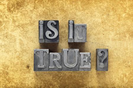 HESITATE: is it true question made from metallic letterpress type on vintage cardboard