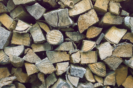 detailed shot: detailed shot of firewood stack with different shape wood