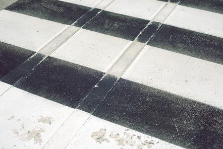 road marking: striped road marking of pedestrian zebra crossing