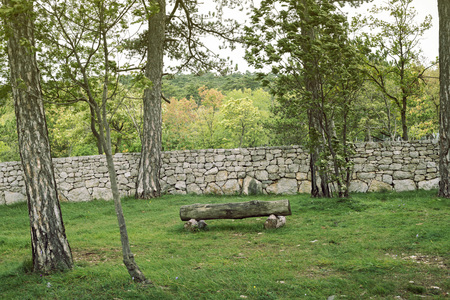 the place is outdoor: simple place for the rest outdoor near Trieste, Italy Stock Photo