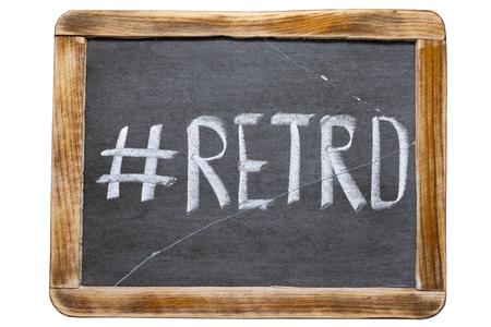 redirect: retro hashtag handwritten on vintage school slate board isolated on white