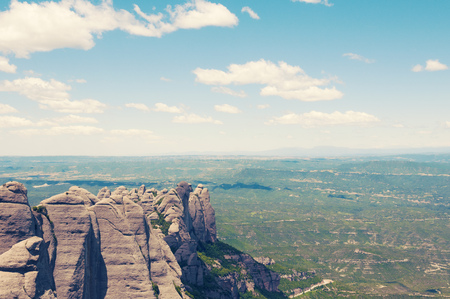 vicinity: rocky Montserrat mountains in Barcelona vicinity in Spain