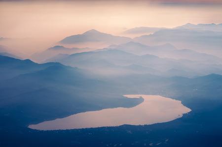 kawaguchi: famous Kawaguchi lake in Japan by early morning