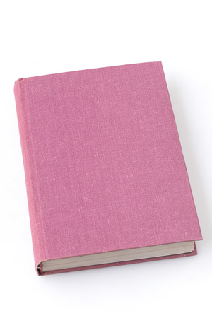 blank pink hardcover book isolated on white background Stock Photo