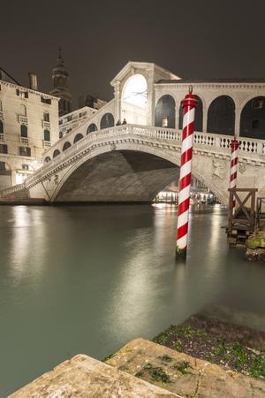 Grand Channel and famous Rialto bridge in Venice, Italy