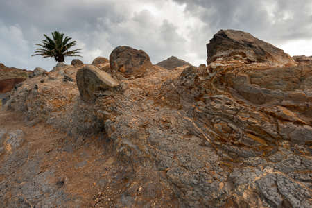 old frozen lava volcanic ground from Madeira Island