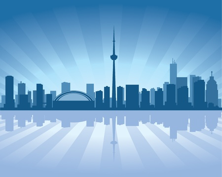 Toronto skyline with reflection in water Stock Vector - 11298553