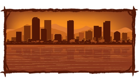 Denver skyline with reflection in water Stock Vector - 11938836