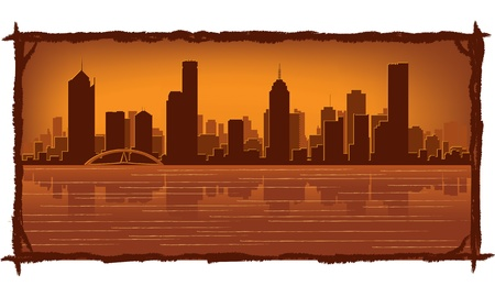 Melbourne Australia skyline with reflection in water Stock Vector - 11938834