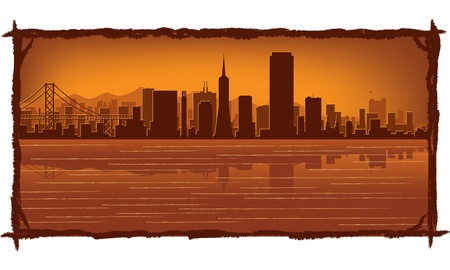 San Francisco skyline with reflection in water Stock Vector - 11938835