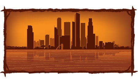 Singapore skyline with reflection in water Stock Vector - 11938830