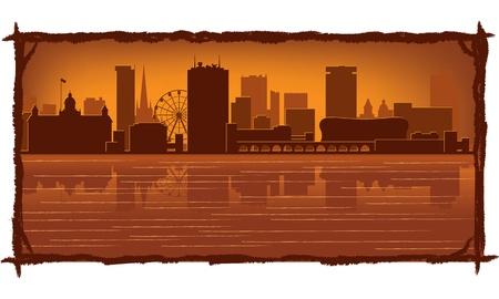 birmingham: Birmingham, England skyline  Illustration