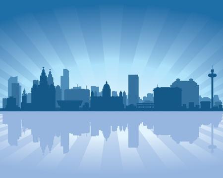 Liverpool, England skyline  Stock Vector - 12077066