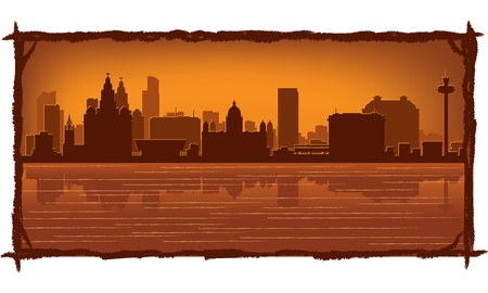 Liverpool, England skyline Vector