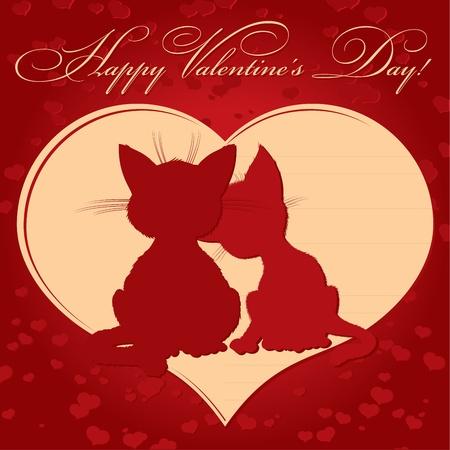 strut: Valentines day card Illustration