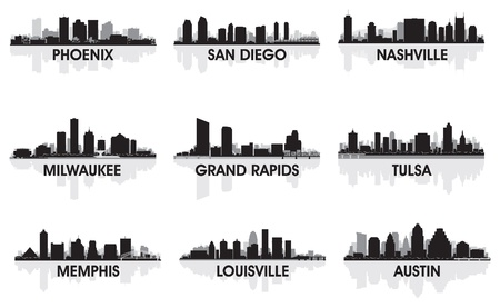 memphis: American cities skyline set