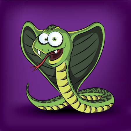 viper: Funny cartoon cobra  illustration