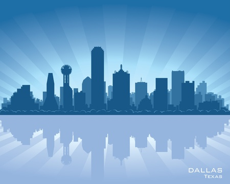 Dallas, Texas skyline  Vector
