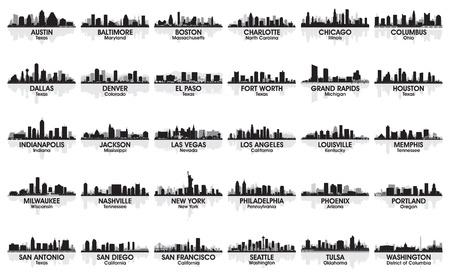 Денвер: Невероятный набор США город небоскребов в 30 городах