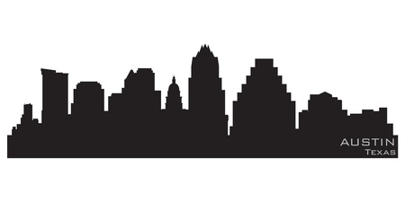 Austin, Texas skyline  Detailed silhouette Illustration