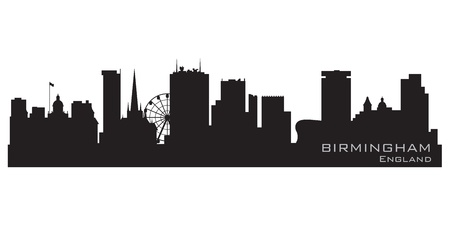 Birmingham, England skyline  Detailed silhouette Vector