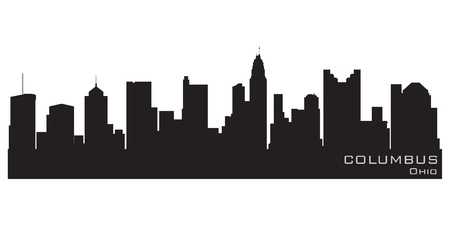 Columbus, Ohio skyline  Detailed silhouette