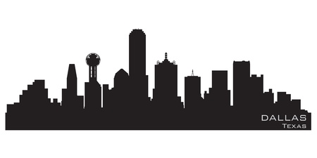 Dallas, Texas skyline  Detailed silhouette