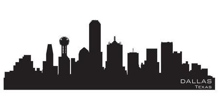 dallas: Dallas, Texas skyline  Detailed silhouette