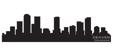 Denver, Colorado skyline  Detailed silhouette