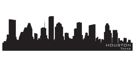 silhouette maison: Houston, au Texas horizon silhouette détaillée