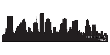 Houston, Texas skyline  Detailed silhouette Illustration