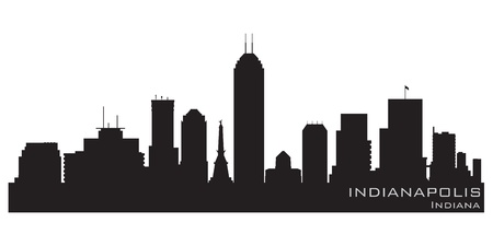 Indianapolis, Indiana skyline  Detailed silhouette