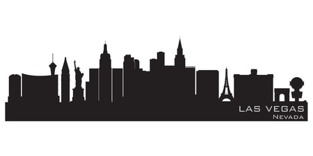 Las Vegas, Nevada skyline  Detailed silhouette Vector