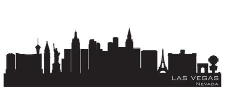 vegas: Las Vegas, Nevada skyline  Detailed silhouette