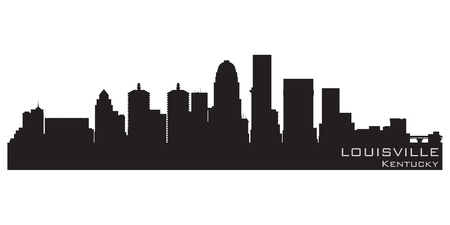 Louisville, Kentucky skyline  Detailed silhouette Vector