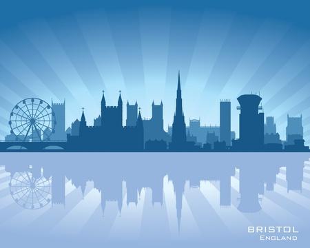bristol: Bristol, England skyline with reflection in water