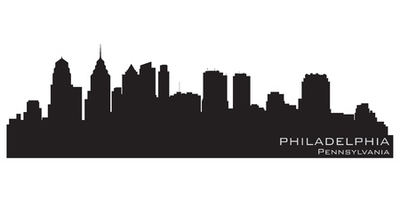 Philadelphia, Pennsylvania city skyline  Detailed vector silhouette