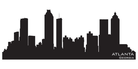 Atlanta, Georgia skyline.  Vector