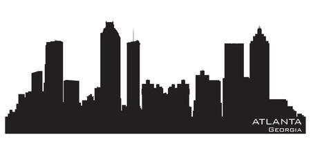 atlanta: Atlanta, Georgia skyline.  Illustration
