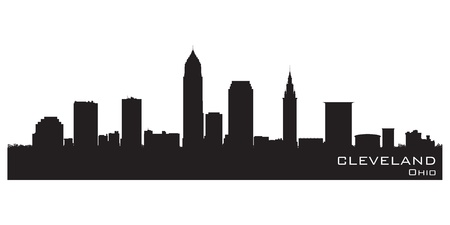 Cleveland, Ohio skyline.  Illustration